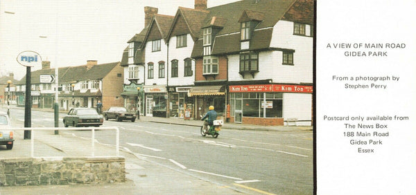 Vintage Limited Edition 1970s Postcard, Main Road, Gidea Park, Essex KG2