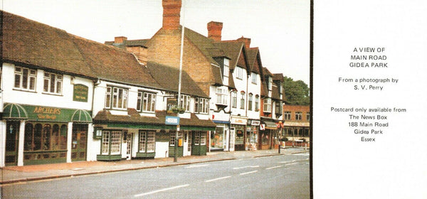 Vintage Limited Edition 1970s Postcard, Main Road, Gidea Park, Essex KG3