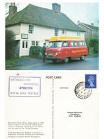 Kent Postcard FDI 1974 Wormshill Post Office Sittingbourne Royal Mail Postbus