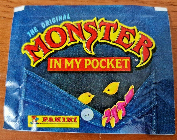 Vintage 1992 Monster In My Pocket Panini Sealed Album Sticker Pack (6 stickers)