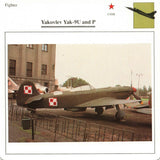 Yakovlev Yak-9U and Yak-9P USSR CCCP Fighter Aircraft Warplanes Collectors Club