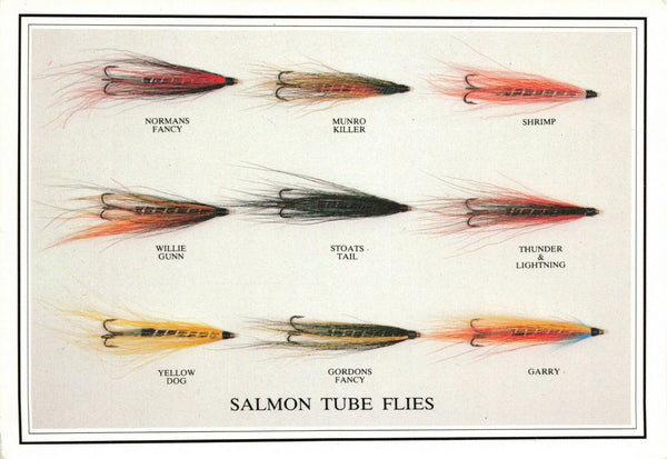 Fly Fishing Postcard, Salmon Tube Flies by Sporting Cards KX5