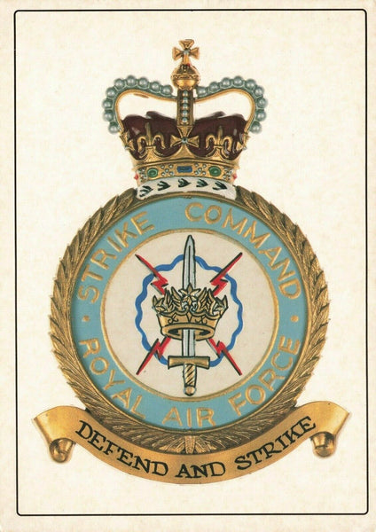 Large Format Postcard, The Crest of RAF Royal Air Force Strike Command OS205