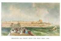 Sussex Art Postcard Brighton Sea Front from West Pier c1866 by J Earl C Webb LC2