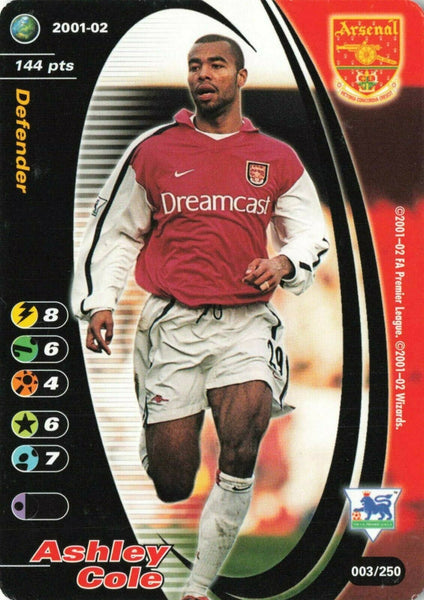 Wizards Card 2001-02 FA Premier League No.3 ASHLEY COLE Arsenal KQ9