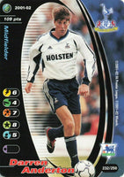 Wizards Card 2001-02 FA Premier League No.232 DARREN ANDERTON Tottenham KR3