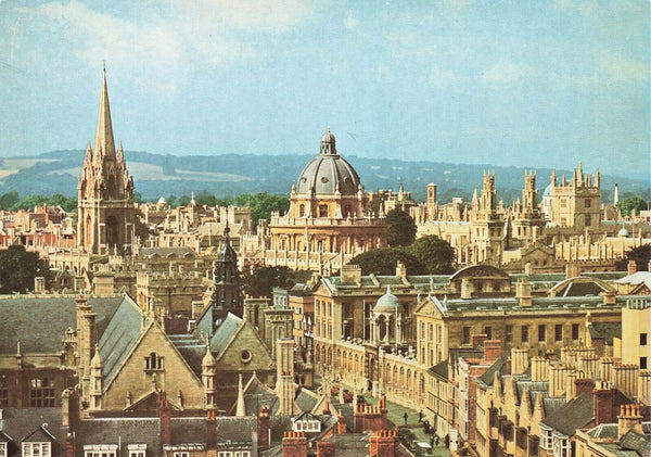 Vintage 1960s Oxfordshire Postcard, Oxford, The Skyline LC5