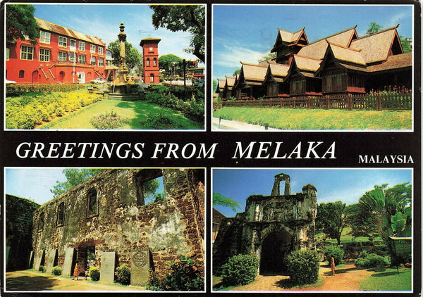 Malaysia Postcard, Multi View, Greetings from Melaka LD3