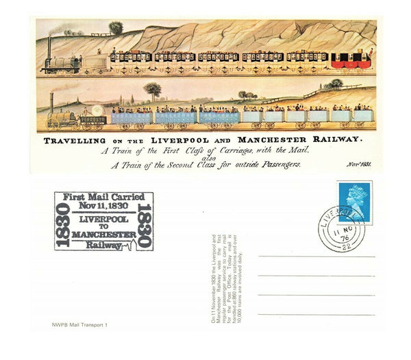 Vintage 1976 Special Issue Postcard, Liverpool & Manchester Railway IQ4a