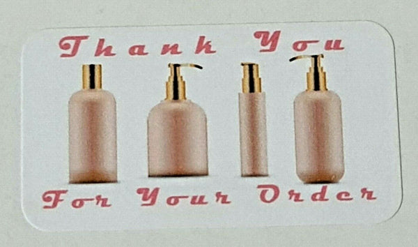 325 x Thank You for Your Order Labels Perfume Scent Avon Matte Labels Stickers