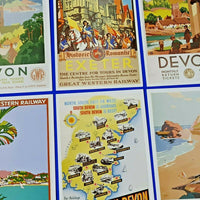 Set of 6 Postcards, GWR Posters of Devon Series 20 by Dalkeith Publishing LG8