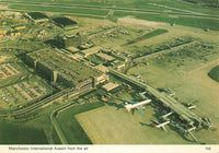 Postcard, Manchester International Airport from the Air, Aerial View LJ6