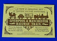 RARE Set No.1 of 7 Postcards, Liverpool & Manchester Railway Train by Dalkeith