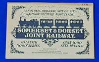 RARE Set No.2 of 6 Postcards, Somerset & Dorset Joint Railway by Dalkeith Ltd Ed