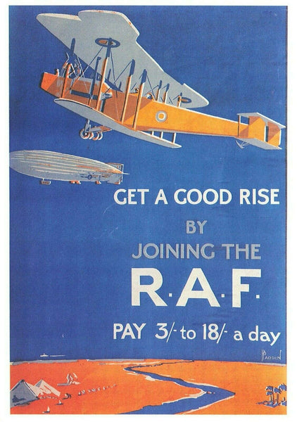 Advertising Postcard Joining the RAF Royal Airforce, Get a Good Rise  LO2