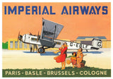 Airline Advert Postcard Imperial Airways Armstrong-Whitworth Argosy Air Liner