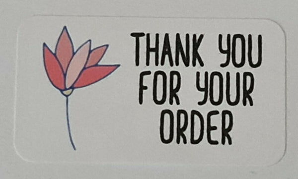 325 x Thank You for Your Order Labels  Flower Petals Matte Labels Stickers LR4