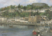 Scotland Art Postcard, Oban, MacCaig's Tower by Pat Bell LR3