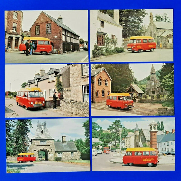 Set of 6 FDI Vintage Postcards The Royal Mail Postbus in Wales, Postbuses LS3