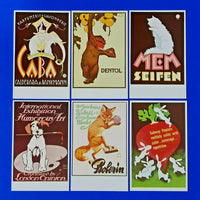 Set of 6 Postcards Classic Poster Series Animals Set 41 by Dalkeith LS5