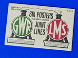 Set of 6 Dalkeith Postcards, No's 199-204 GWR LMS Joint Lines Railway Posters