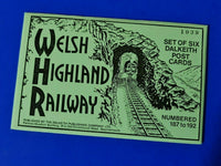 RARE Set of 6 Dalkeith Postcards, No's 187-192 Welsh Highland Railway