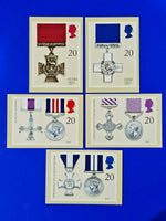 PHQ Stamp Postcards Set First Day Issue No.129 Gallantry Awards 1990 LZ8