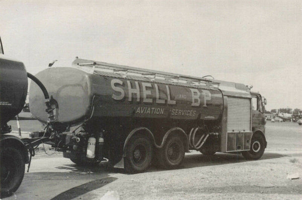 Limited Edition Postcard, Shell & BP Aviation Fuel Tanker at Jersey 1961 MA1