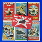 RARE Set of 6 Dalkeith Postcards Set S38 White Star Line Posters MB6