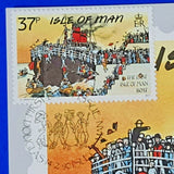 Set of 5 PHQ Stamp Cards FDI Classic Postcards Isle of Man Set No.8 1990 MJ0
