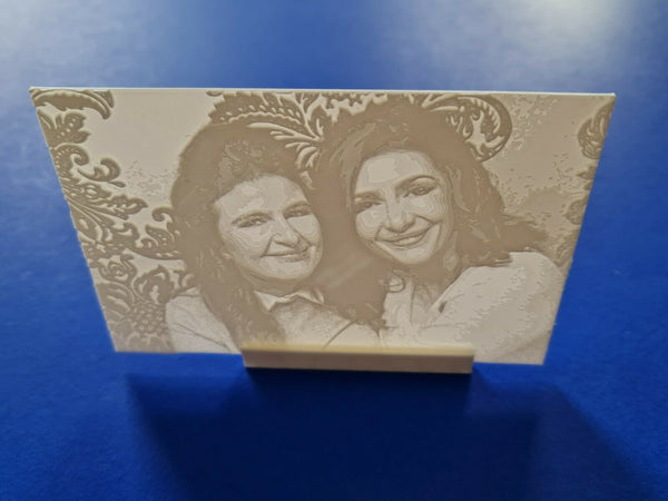 Personalised 3D Printed Lithophane Portrait Photograph Gift Kids Wedding Pets