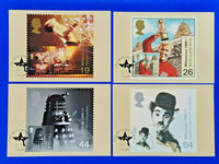 Set of 4 PHQ Stamp Postcards FDI Front No.208 Entertainers' Tale 1999 MK8
