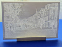 3D Printed Lithophane Image Picture of Station Road, Colwyn Bay early c1900s