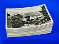 Complete Set of 48 Senior Service Real Photo Cigarette Cards Beautiful Scotland