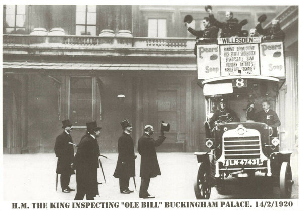 Vintage Repro Postcard, KGV King George V Ole Bill, Buckingham Palace 1920 MM9