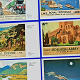 Set of 6 Dalkeith Postcards LMS & LNER Railway Advertising Joint Poster Cards
