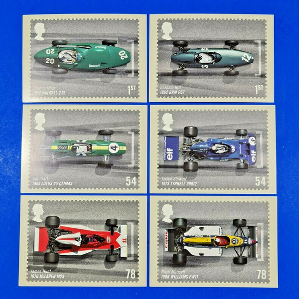 PHQ Stamp Postcards Full Set of 6 No.300 Grand Prix 2007 MN2
