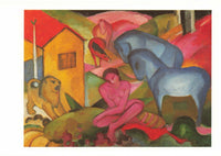 Art Postcard, The Dream (1912) by Franz Marc - Expressionism MO4