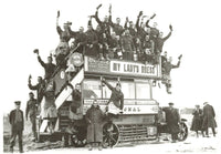 Vintage Reproduction Postcard, London Bus goes to War, WW1 c1914 MO0