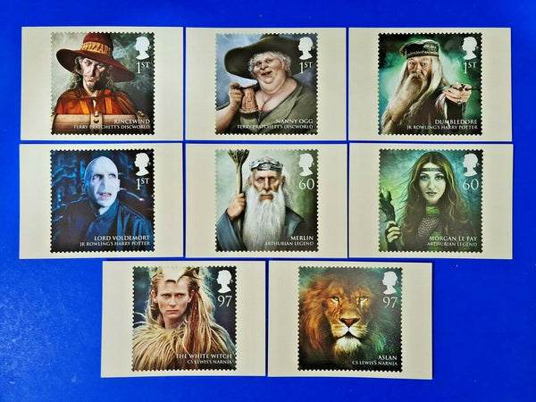 PHQ Stamp Postcards Set of 8 No.347 Magical Realms MW9