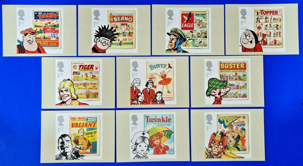 PHQ Stamp Postcards Set of 10 No.362 Comics 2012 MX3