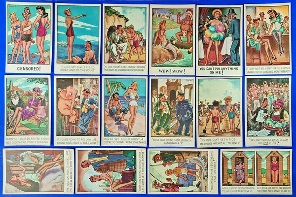 The Regent Fine Arts Comic Seaside Postcard Collection of 16 cards Humour, Funny