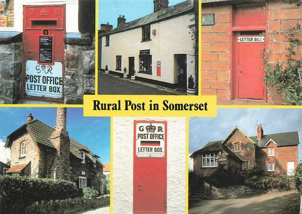 Postcard, Rural Post in Somerset, Post Offices, Post Letter Box Boxes NJ2