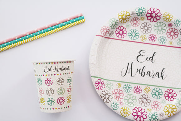 Eid Party Cups and Plates Islamic Moments