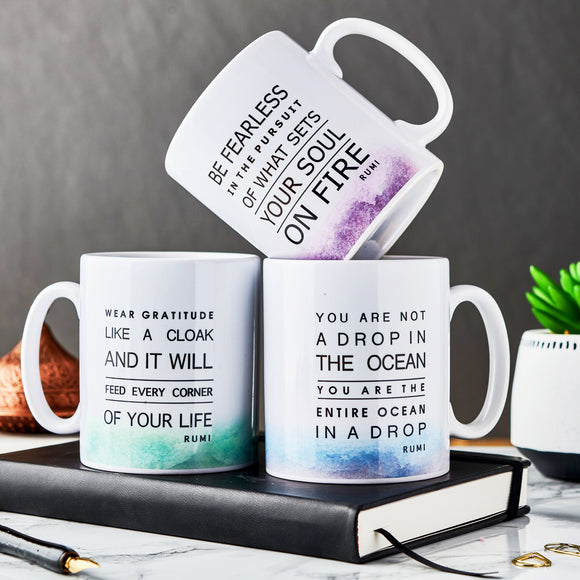 Rumi Quotes Mugs