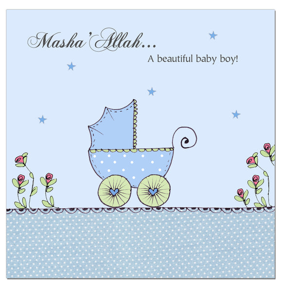 CD 01 - Baby Boy - Blue Pram - Islamic Moments