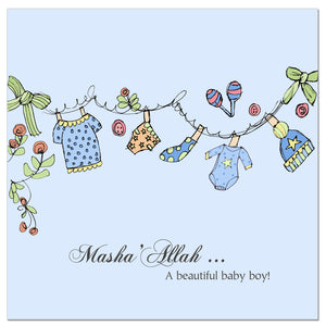 CD 05 - Baby Boy - Blue Clothes Line - Islamic Moments