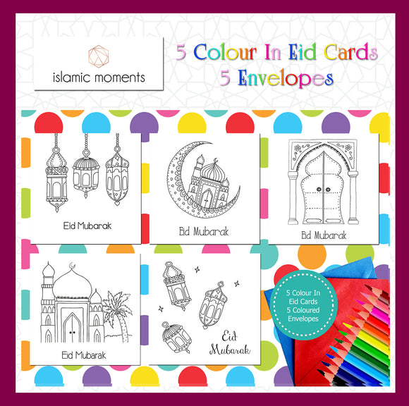 CIEC 01 - Colour in Eid cards - Mixed Set - Islamic Moments