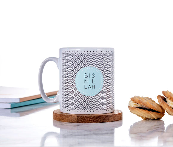 Ceramic Mug - Bismillah - Geometric - MG 33