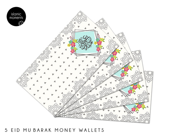 Money Wallets - Eid Mubarak Pack of 5